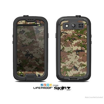The Digital Camouflage V4 Skin For The Samsung Galaxy S3 LifeProof Case