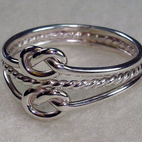 Double Celtic Love Knot Ring with Twisty in All by AviationJewelry