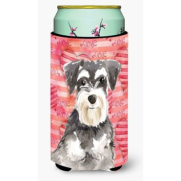 Love a Schnauzer #2 Tall Boy Beverage Insulator Hugger CK1759TBC