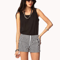 Essential Vertical Striped Shorts