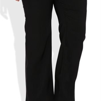 Plus Size Dress Pant with Two Button Waistband and Tribal Lining