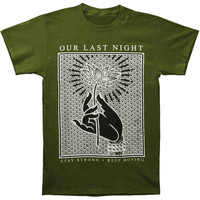 Our Last Night Men's  Hand Flower T-shirt Green