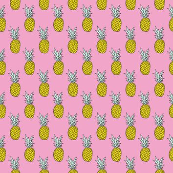 Hot summer pineapple pink trend - littlesmilemakers - Spoonflower