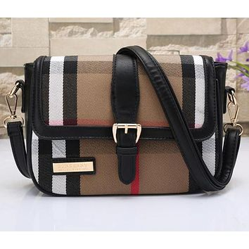 Perfect Burberry Women Leather Shoulder Bag Crossbody Satchel