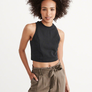 Womens Scuba Cropped Top | Womens Tops | Abercrombie.com