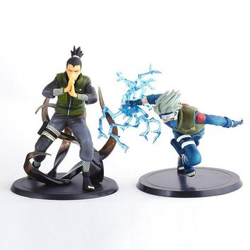 Naruto Sasauke ninja 2 Styles 16cm Japanese Anime  Figure Toy Kakashi Nara Puppets PVC Action Figure Table Desk Decoration Accessories Gift AT_81_8