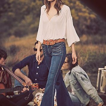Free People Stella High Rise Flare