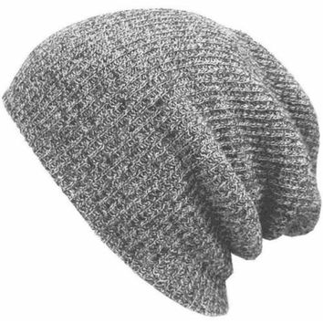 Winter Hats for Men Women Knit Casual Hat Crochet Baggy Beanie Ski Slouchy Chic Knitted Cap Skull Hat For Girl And Boy