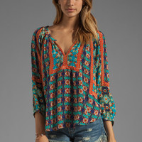 Tolani Ruby Blouse in Turq Floral from REVOLVEclothing.com
