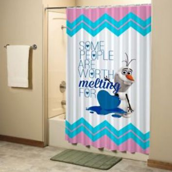 Disney Frozen Olaf Quote Movie Shower Curtain High Quality Bathroom 60x72 Inch