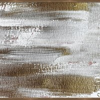 Metallic Abstract Painting 3 #texture #minimalism by Andrea Anderegg Photography