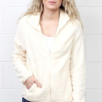 Snuggled Up Fleece Sherpa Jacket {Natural}