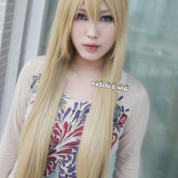 Axis Powers Hetalia Belaru / Natalia Alfroskaya ash blonde 85cm long straight  Cosplay Wig with bangs / lady wig / women wig / lolita wig