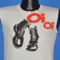 80s Punk Oi Oi Skinhead Boots t-shirt Small
