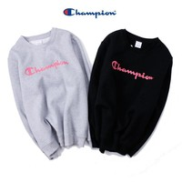 Men Pink Simple Design Print Hoodies [9070638659]