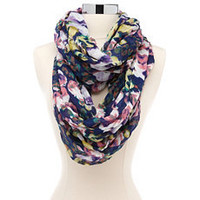 Watercolor Blossom Infinity Scarf: Charlotte Russe