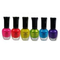 Kleancolor Neon Nail Lacquer 6 Colors Set