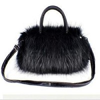 Plush faux fur children school bags kids mini messenger bags female small pouches for kindergarten baby nursery infants girls