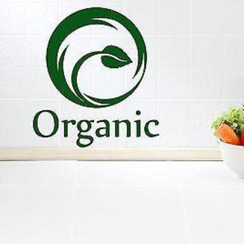 Wall Stickers Vinyl Decal Healthy Food For Kitchen Ecology Organic Unique Gift z1160
