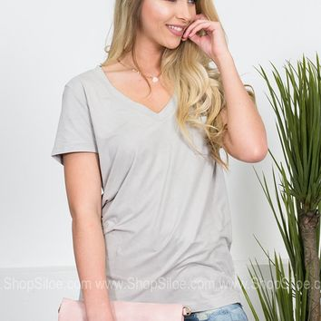 Starlight Suede Pocket Top
