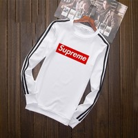 Day-First™ Supreme Fashion Print Long Sleeve sweater Top(5-Color) White I-YSSA-Z