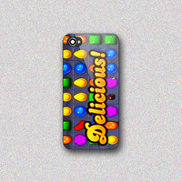 Delicious Candy Crush - Print on Hard Cover for iPhone 4/4s, iPhone 5/5s, iPhone 5c - Choose the option in right side
