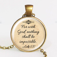 Jesus Jewelry Christian Necklace ~ Quote