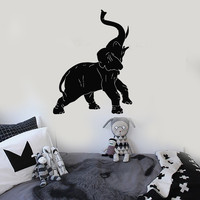 Wall Stickers Vinyl Decal Elephant African Animal Zoo Circus Decor (ig143)
