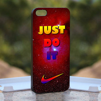 Red Nabula Just Do It  - Design available for iPhone 4 / 4S and iPhone 5 Case - black, white and clear cases