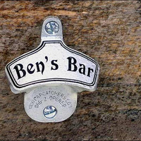 Personalized Bottle Opener - Traditional Wall Mount - Groomsmen Gift