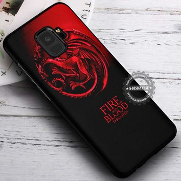 Game of Thrones House Targaryen Dragon iPhone X 8 7 Plus 6s Cases Samsung Galaxy S9 S8 Plus S7 edge NOTE 8 Covers #SamsungS9 #iphoneX