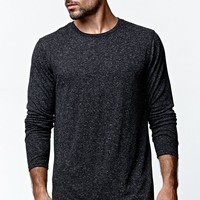 On The Byas Harris Straight Hem Longline T-Shirt - Mens Shirt - Black