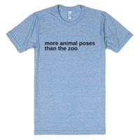 Animal Yoga Poses-Unisex Athletic Blue T-Shirt