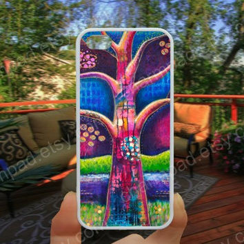 Tree caes colorful tree life case 4/4s case iphone 5/5s/5c case samsung galaxy s3/s4 case galaxy S5 case Waterproof gift case 485.
