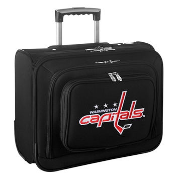 Washington Capitals Carry-On Rolling Laptop Bag - Black - http://www.shareasale.com/m-pr.cfm?merchantID=7124&userID=1042934&productID=540328996 / Washington Capitals