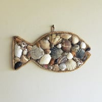 Nautical Wall Decor/ Sea Shells Decor/ Fish Wall Decor/ Fish Decor/ Beach Gifts/ Beach Decor/ Natural Home Decor