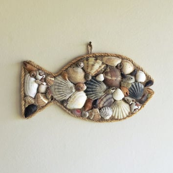 Good Nautical Wall Decor/ Sea Shells Decor/ Fish Wall Decor/ Fish Decor/ Beach