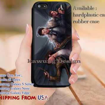 Painting Art Supernatural Castiel iPhone 6s 6 6s+ 5c 5s Cases Samsung Galaxy s5 s6 Edge+ NOTE 5 4 3 #movie #supernatural #superwholock #sherlock #doctorWho dl13