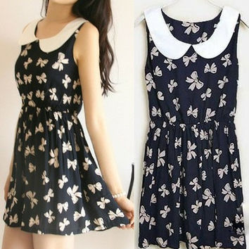 Peter Pan Collar Cotton Dress