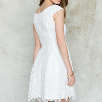 Jeannine Scalloped Lace Dress