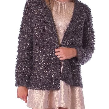 Fairy Tale Sweater Cardigan - Charcoal/Gold