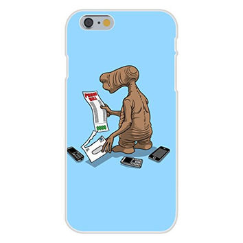 Apple iPhone 6 Custom Case White Plastic Snap On - 'Phone Bill' Funny Classic Alien Movie Parody