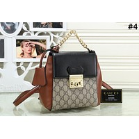 GUCCI Padlock Tide brand female classic double G printing flip cover backpack back #4