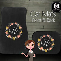 Custom Personalized & Monogrammed Car Mats, Unique Car and Teen Gift!