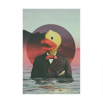 Dapper Ducky Art Print