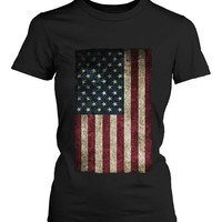 365 In Love July 4th Red White and Blue Collection - American Flag Women's T-shirt