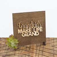 Grandparent's Day - Gift for Grandparent - Stocking Stuffers - Shelf Sitter - Mantle Decor - Wood Decor Signs - Small Decor Accents