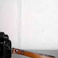 Custom Genuine Leather Camera Wrist Strap DSLR / SLR - Photographer gift