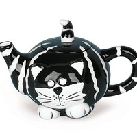 Chester Cat Dolomite Teapot and Mugs