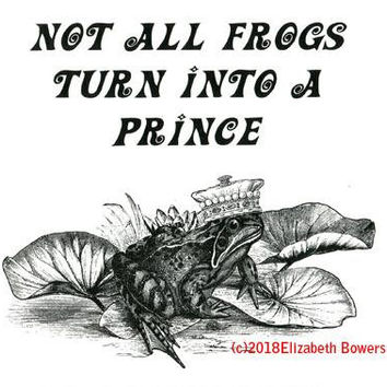 frog prince fairytale lie quote art print animal illustration nature wildlife art living room bedroom home decor black and white artwork